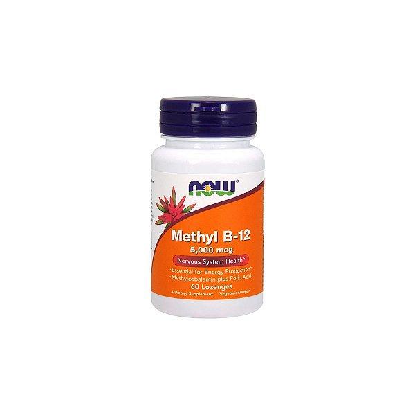 Vitamina B-12 5000 mcg 60 Pastilhas - Now
