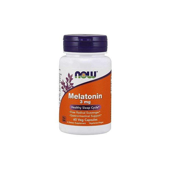 Melatonina 3 mg 60 Veg Capsulas - Now