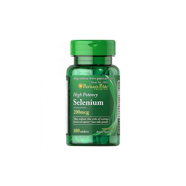 Selenium 200Mcg 100 Tabletes - Puritans Pride
