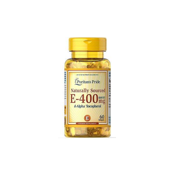Vitamina E 400 MG (600 UI) 60 Softgels - Puritans Pride