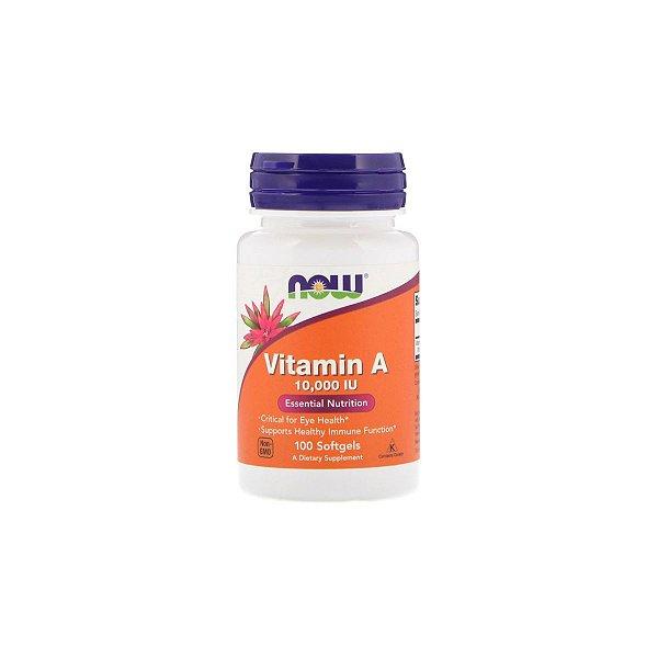 Vitamina A 10.000 IU - 100 Softgel - NOW
