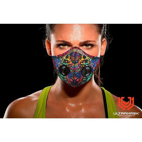 Mascara Protetora Esportiva UltraMask Slim Filtro Duplo - Multicolor