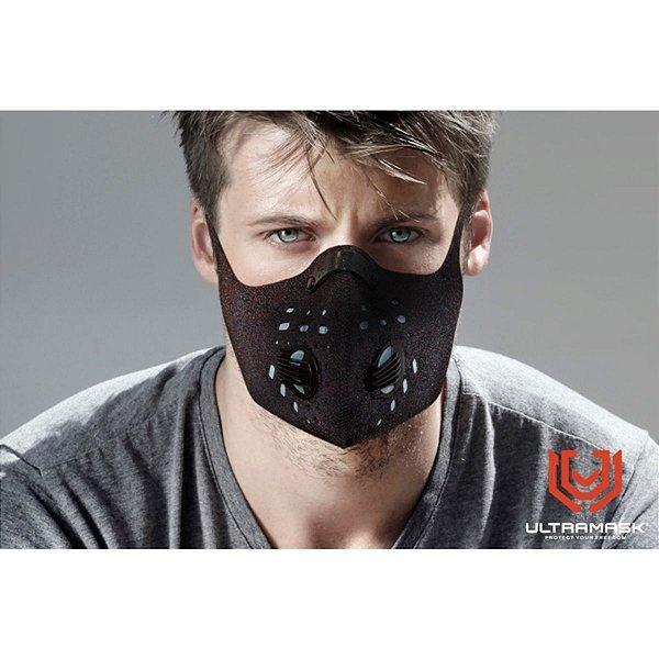 Mascara Protetora Esportiva UltraMask Strong Filtro Duplo - Preto