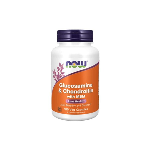 Glucosamina e Condroitina With MSM 180 cápsulas  - Now Foods