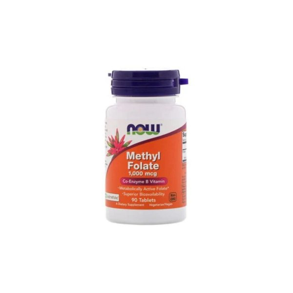 Methyl Folate 1.000 mcg 90 Tabs - Now Foods