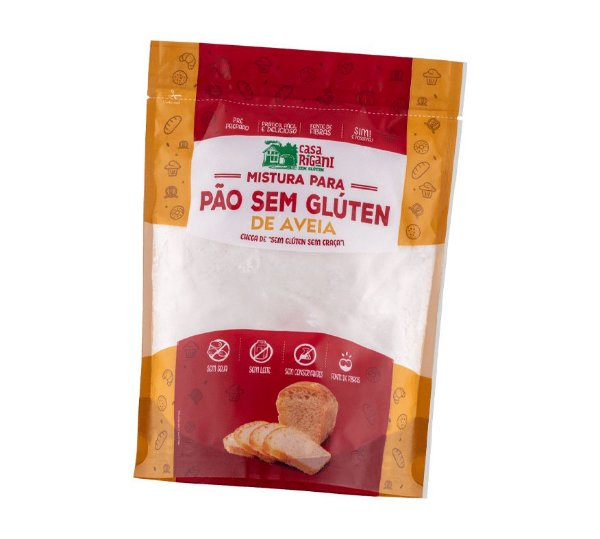Mistura para Pão sem glúten de Aveia - MISTURA PRONTA
