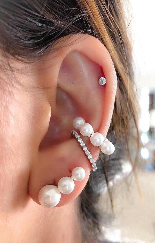 Piercing Perolinhas Prata 925
