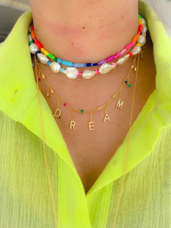 Colar DREAM Rainbow ouro 18k