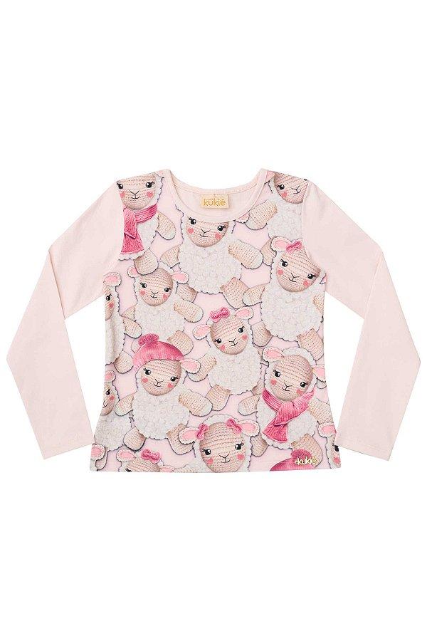 7e4e35c600493a Blusa Infantil Sheep Manga Longa Le Petit Kukiê