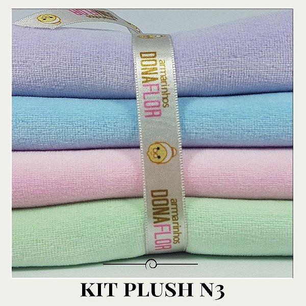 Kit Plush N3 4tecidos 30x85cm