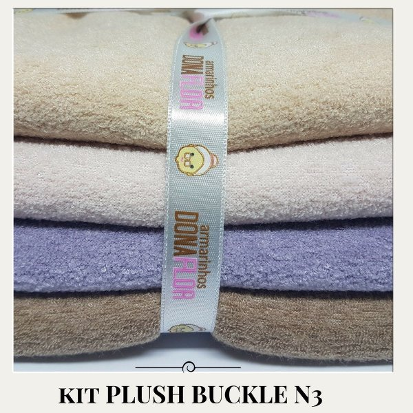 Kit Plush Buckle N3 4tecidos  30x75cm