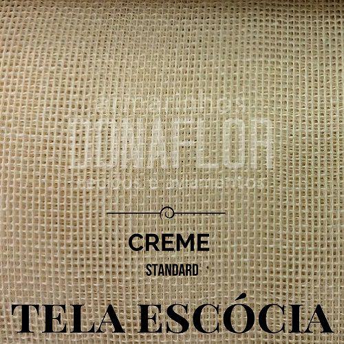 Tela Escócia  Creme  50X65cm