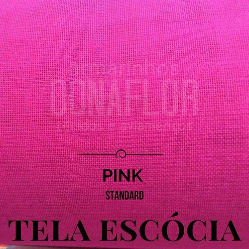 Tela Escócia pink  50X65cm