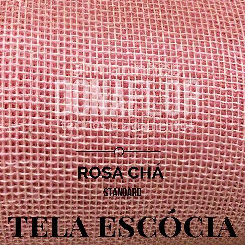 Tela Escócia rosa chá  50X65cm