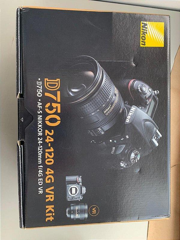 Kit Camera Nikon D750 + lente 24-120mm + Grip