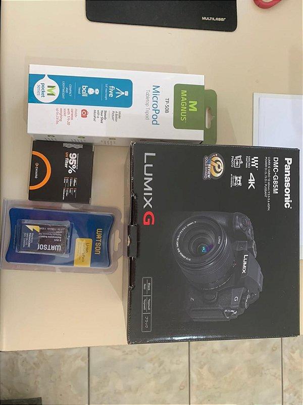 Camera Panasonic Limix DMC-G85 +Lente 12-60mm + acessórios
