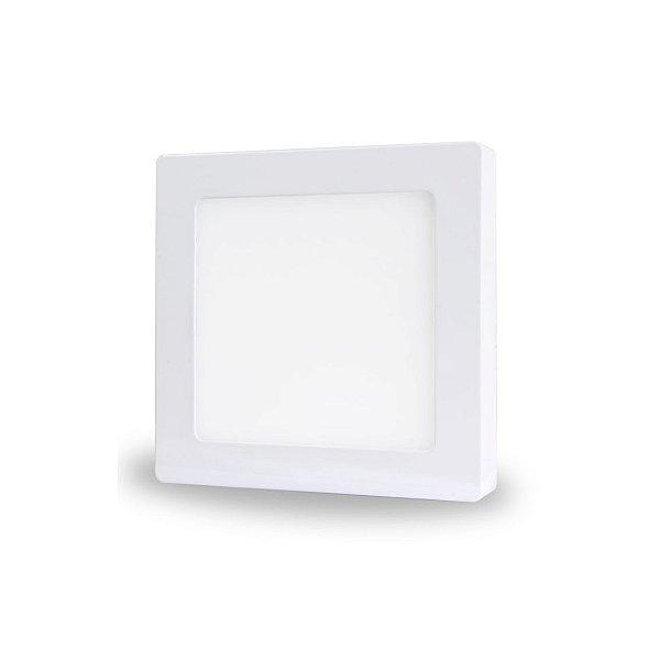 Luminária LED de Sobrepor - 12w - Bivolt - Quadrado - 17,4x17,4 cm - Branco Frio ou Quente