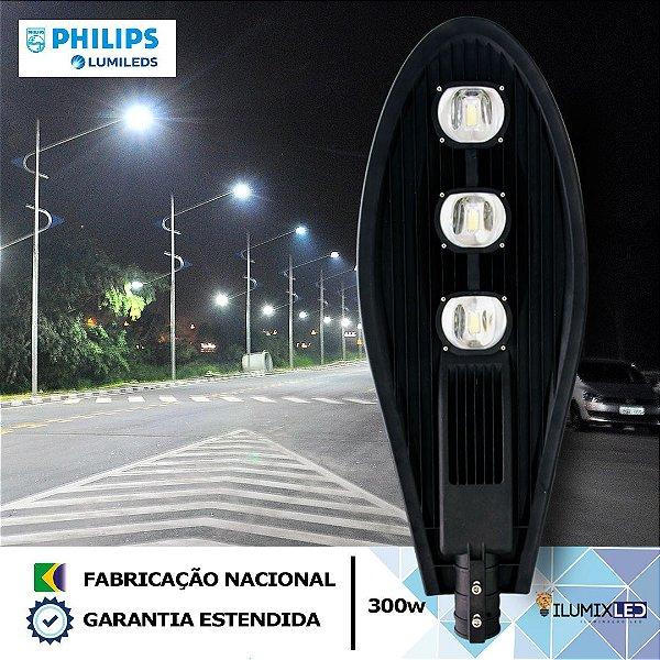 Luminária LED para Poste 300w | 36.000 Lúmens | LEDs PHILIPS | Resistente à Água IP66