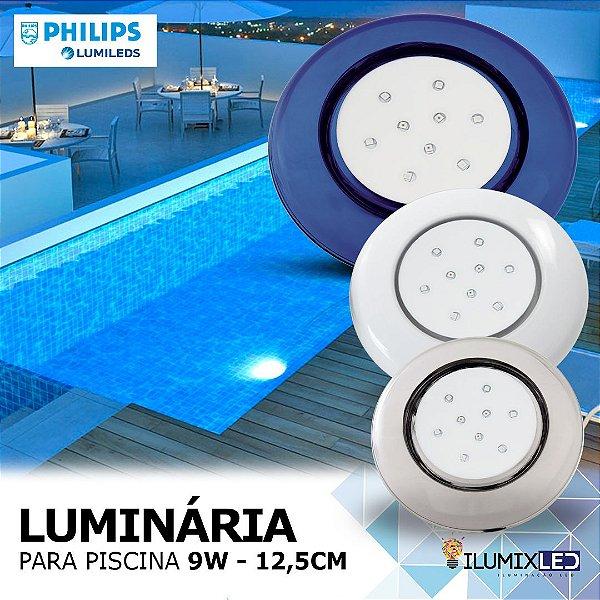 LUMINÁRIA LED PARA PISCINA - 9w | POLICARBONATO | À prova d'água | LED PHILIPS