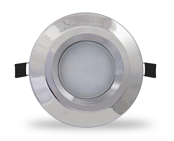 Spot LED 10w | foco: 90º | Embutir | Bivolt | Redondo 120mm | LED CHIP PHILIPS