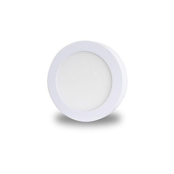Luminária LED de Sobrepor - 12w - Bivolt - Redondo 17,5cm - Branco Frio ou Quente