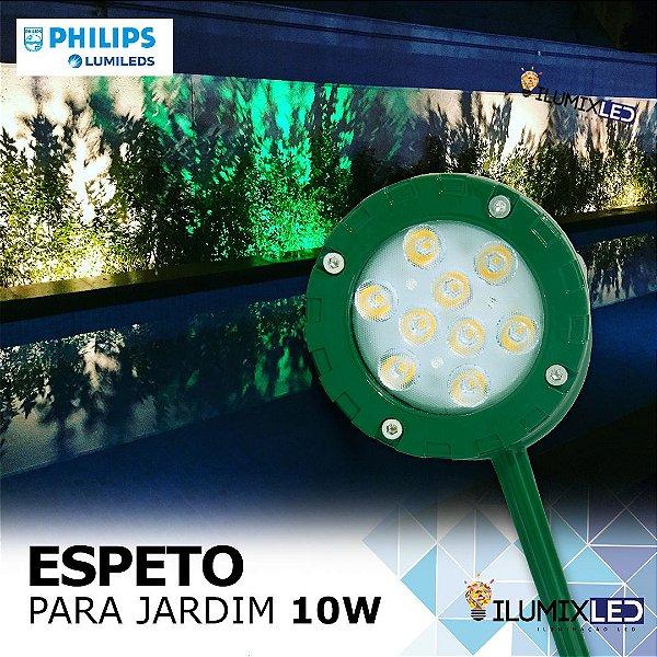 ESPETO DE JARDIM 10w | Foco 45º | Resistente à água | LED CHIP PHILIPS
