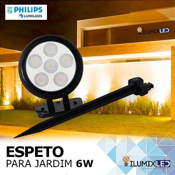 ESPETO DE JARDIM 6W | Foco: 45º | Resistente à água IP65 | Incluso: Base + Espeto | LED PHILIPS