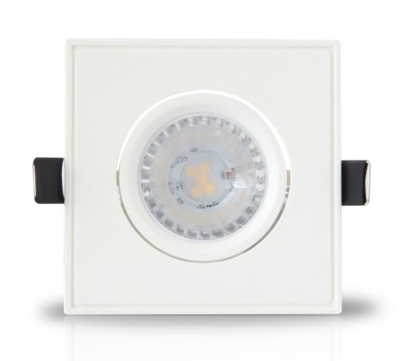 Spot Dicróica LED 5w | Embutir | Bivolt | Quadrado 90x90mm | LED CHIP PHILIPS