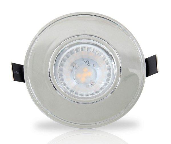 Spot para embutir com Dicróica LED 5w | Bivolt | redondo 85mm | Uso Interno