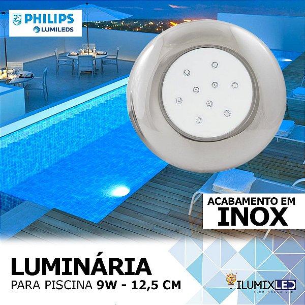 LUMINÁRIA LED PARA PISCINA - 9w   INOX   À prova d'água   LED CHIP PHILIPS