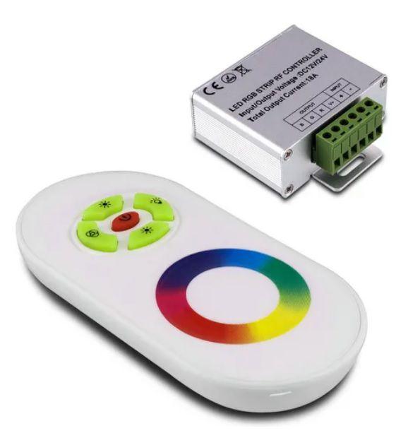 CONTROLE REMOTO para sistema RGB | TOUCH SCREEN |  Alcance 15m  |  12V