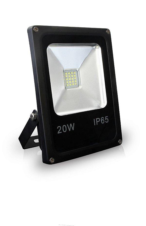 REFLETOR LED 20W  | Bivolt | LED PHILIPS | Resistente à Água IP65 | 2.400 Lúmens