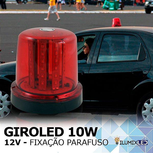 Sinalizador GIROLED 10w | 12v | Fixação: POR PARAFUSO | Resistente à Água IP65 | LEDS PHILIPS
