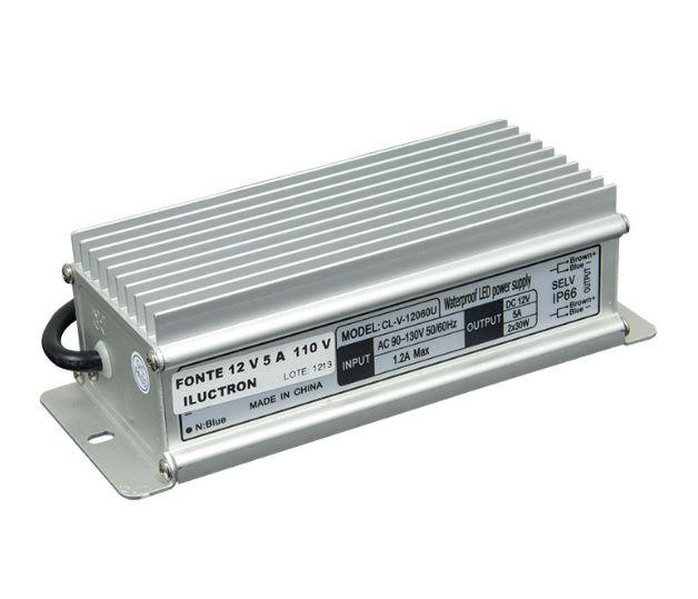 FONTE 12V | Bivolt | 8,5 AMP | IP65 | BLINDADA | USO EXTERNO