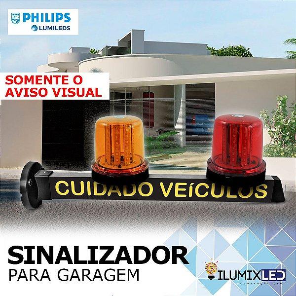 Sinalizador LED Para Garagem | com GIROLED | Aviso VISUAL | Resistente à Água IP65 | LEDS PHILIPS