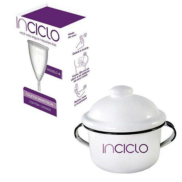 COMBO - Coletor Menstrual Inciclo - Tamanho A + Panelinha Inciclo