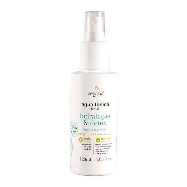 Vegana Água Tônica Facial Hidratante e Detox 120mL - WNF