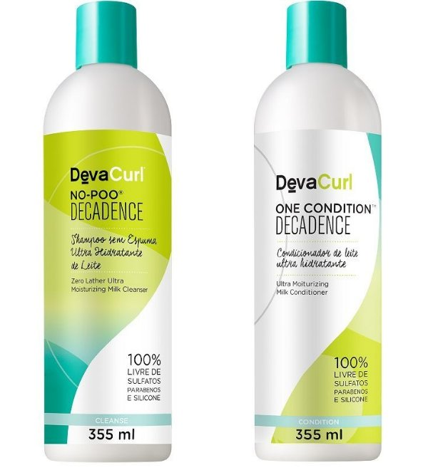 COMBO DevaCurl No Poo Decadence 355ml + One Condition Decadence 355ml