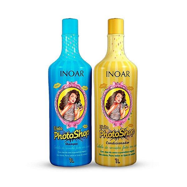 Inoar - Kit Efeito Photoshop Shampoo e Condicionador 1L