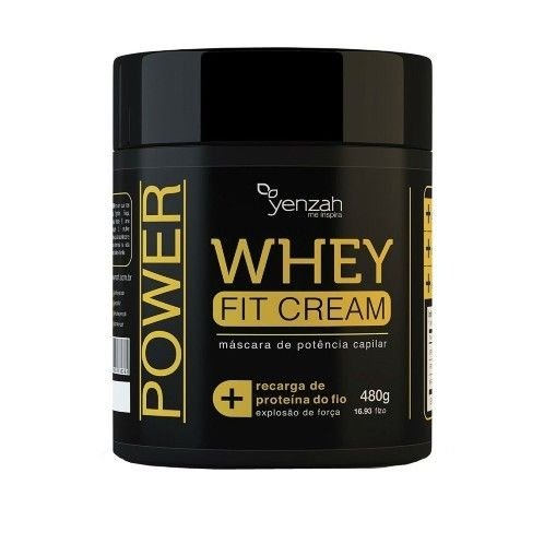 Yenzah Whey Fit Cream - Máscara de Potência Capilar - 480g