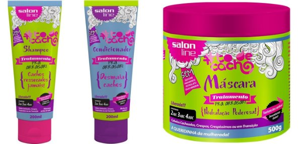 #To de Cacho COMBO Pra Arrasar - Shampoo Low Poo 200ml + Condicionador No Poo 200ml + Máscara de Tratamento No/Low Poo 500g