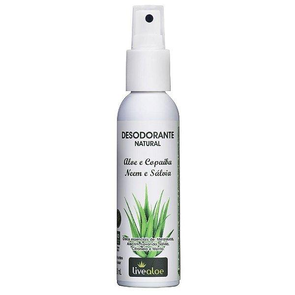 Desodorante Natural - Aloe e Copaíba, Neem e Sálvia - LiveAloe -  120ml