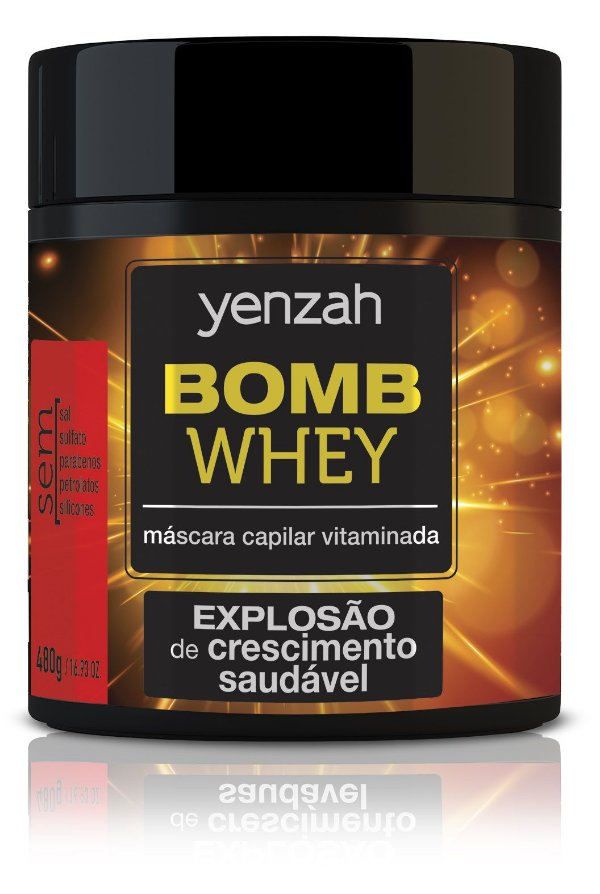 Yenzah Bomb Cream Whey - Máscara Capilar Vitaminada - 480g