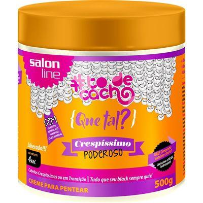Salon Line #To de Cacho Que Tal? Crespíssimo Poderoso - Creme Para Pentear 500g - NOVA FÓRMULA