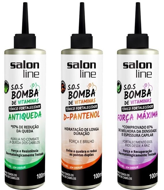 Salon Line - COMBO S.O.S Bomba de Vitaminas - Blend 3 Tônicos