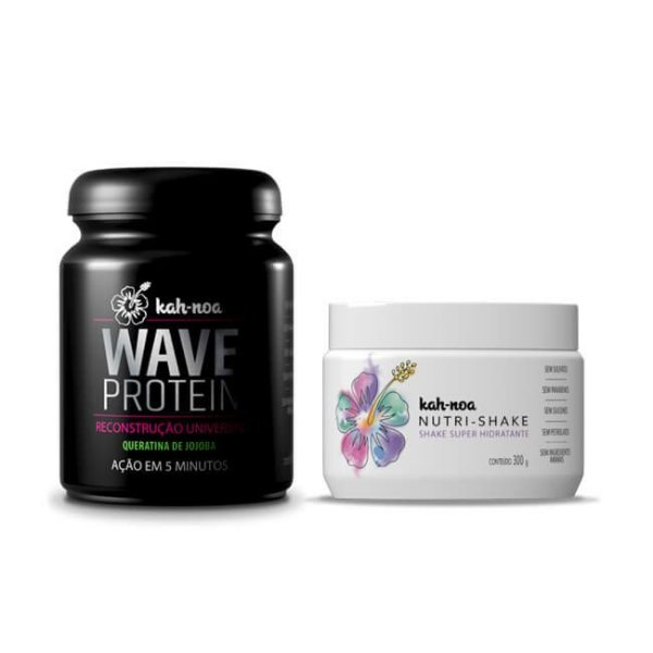 COMBO Kah-Noa TRATAMENTO Máscara  Nutrishake 300g + Máscara Wave Protein - 300g