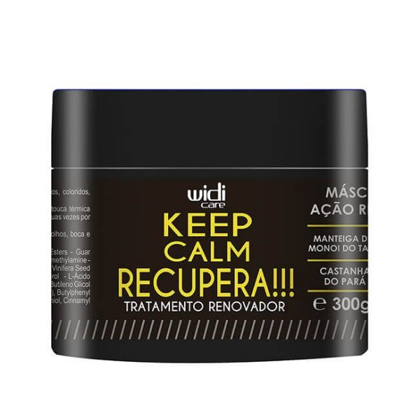 Keep Calm Recupera! - Máscara de Tratamento 300g - Widi Care