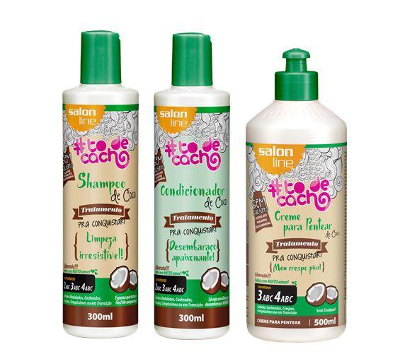 Salon Line #To de Cacho Combo Vegano - Cuidados Diários de Coco
