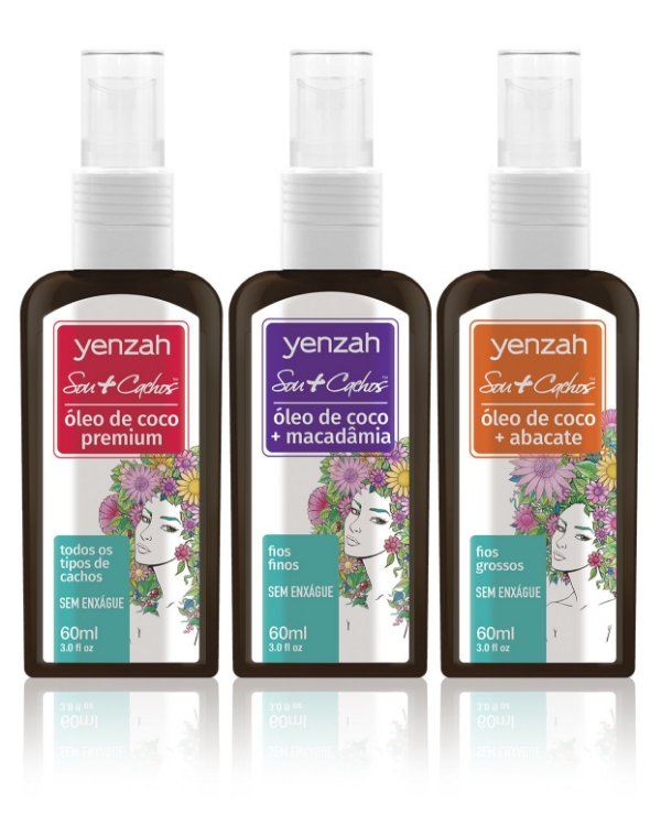 Combo Yenzah Sou+Cachos - Blend de Óleos de Coco - 60ml