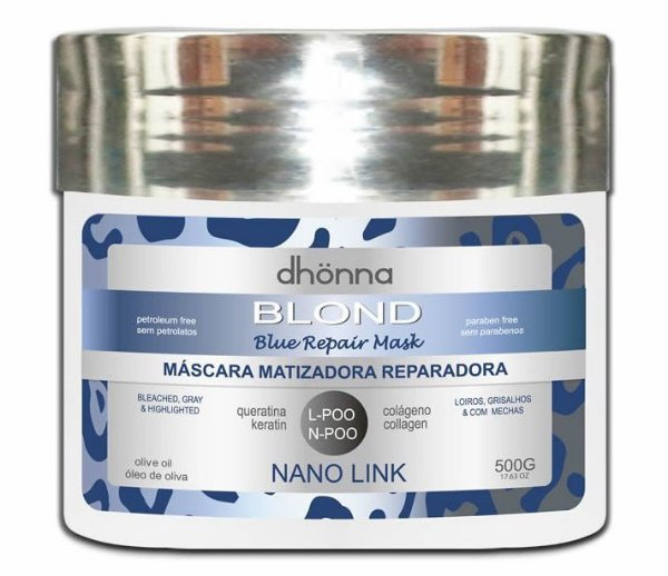 Dhonna - Máscara Matizadora Blond Blue Repair - 500ml